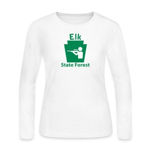 Elk State Forest Keystone Hunt - Women's Long Sleeve Jersey T-Shirt