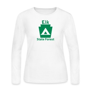 Elk State Forest Keystone Camp - Women's Long Sleeve Jersey T-Shirt