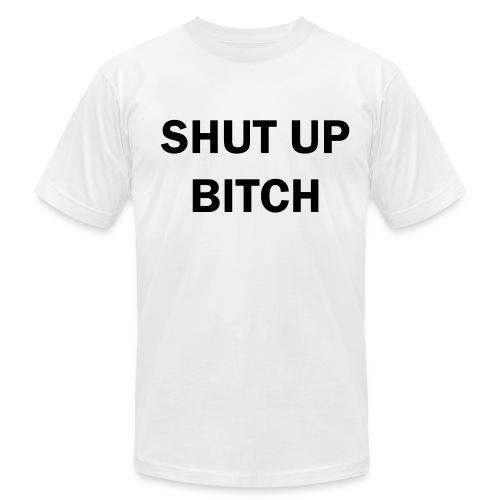 xhut up - Men's Fine Jersey T-Shirt