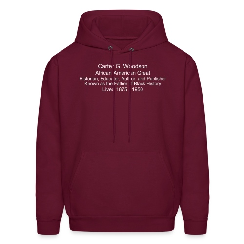 Men's Hoodie - carter g. woodson t-shirt,black history,african-american products