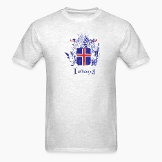 Light oxford Icelandic Crest T-Shirts
