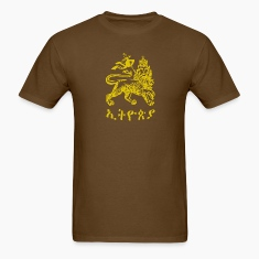 Brown Ethiopia Lion of Judah T-Shirts