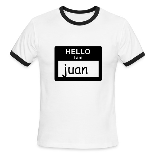 Hello, I am Juan - Men's Ringer T-Shirt