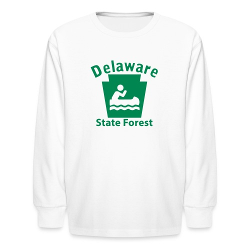 Delaware State Forest Keystone Boat - Kids' Long Sleeve T-Shirt