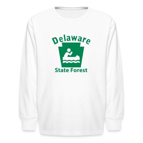 Delaware State Forest Keystone Boat - Kids' Long Sleeve T-Shirt