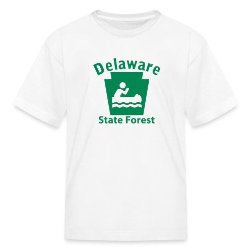 Delaware State Forest Keystone Boat - Kids' T-Shirt