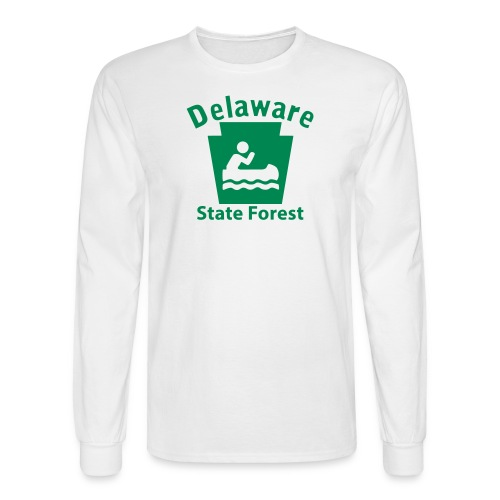 Delaware State Forest Keystone Boat - Men's Long Sleeve T-Shirt