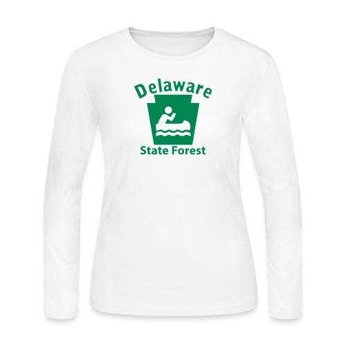 Delaware State Forest Keystone Boat - Women's Long Sleeve Jersey T-Shirt