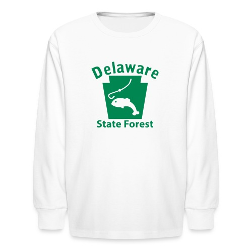 Delaware State Forest Keystone Fish - Kids' Long Sleeve T-Shirt