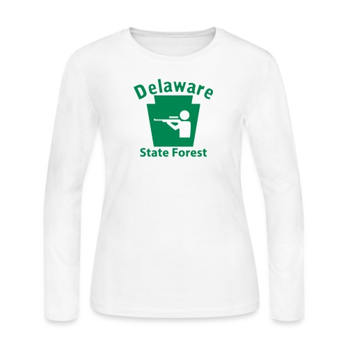Delaware State Forest Keystone Hunt - Women's Long Sleeve Jersey T-Shirt