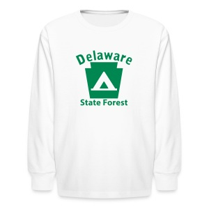Delaware State Forest Keystone Camp - Kids' Long Sleeve T-Shirt