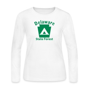 Delaware State Forest Keystone Camp - Women's Long Sleeve Jersey T-Shirt