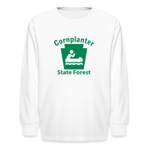 Cornplanter State Forest Keystone Boat - Kids' Long Sleeve T-Shirt