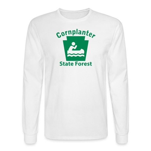 Cornplanter State Forest Keystone Boat - Men's Long Sleeve T-Shirt