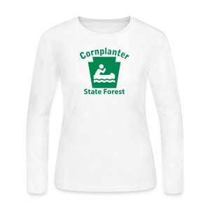 Cornplanter State Forest Keystone Boat - Women's Long Sleeve Jersey T-Shirt