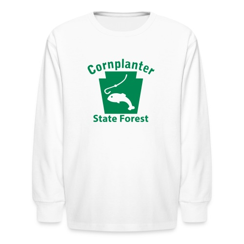 Cornplanter State Forest Keystone Fish - Kids' Long Sleeve T-Shirt