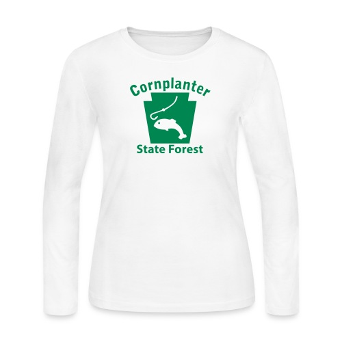 Cornplanter State Forest Keystone Fish - Women's Long Sleeve Jersey T-Shirt