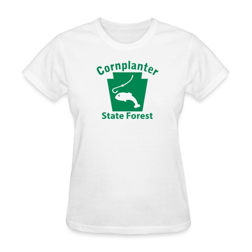 Cornplanter State Forest Keystone Fish - Women's T-Shirt
