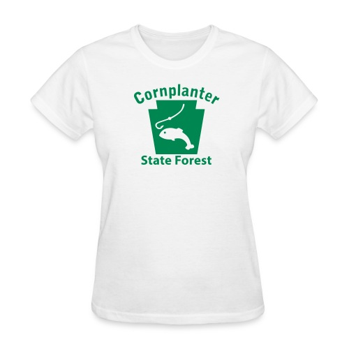 Cornplanter State Forest Keystone Fish - Women's T-Shirt