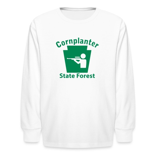 Cornplanter State Forest Keystone Hunt - Kids' Long Sleeve T-Shirt