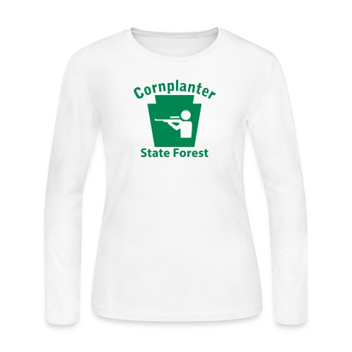 Cornplanter State Forest Keystone Hunt - Women's Long Sleeve Jersey T-Shirt