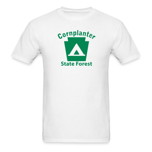 Cornplanter State Forest Keystone Camp - Men's T-Shirt