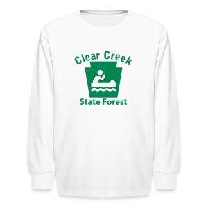 Clear Creek State Forest Keystone Boat - Kids' Long Sleeve T-Shirt