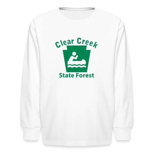 Clear Creek State Forest Keystone Boat - Kids' Long Sleeve T-Shirt