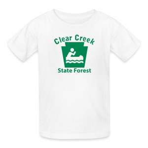 Clear Creek State Forest Keystone Boat - Kids' T-Shirt