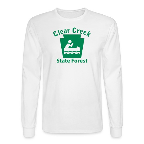 Clear Creek State Forest Keystone Boat - Men's Long Sleeve T-Shirt
