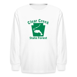 Clear Creek State Forest Keystone Fish - Kids' Long Sleeve T-Shirt
