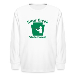 Clear Creek State Forest Keystone Hunt - Kids' Long Sleeve T-Shirt