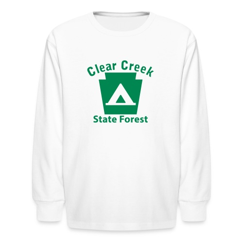 Clear Creek State Forest Keystone Camp - Kids' Long Sleeve T-Shirt