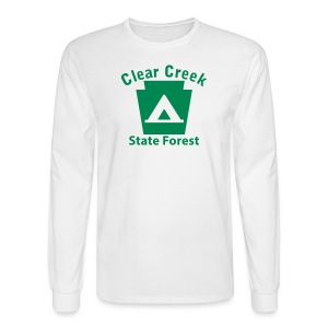 Clear Creek State Forest Keystone Camp - Men's Long Sleeve T-Shirt