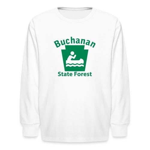 Buchanan State Forest Keystone Boat - Kids' Long Sleeve T-Shirt
