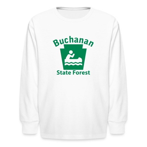 Buchanan State Forest Keystone Boat - Kids' Long Sleeve T-Shirt