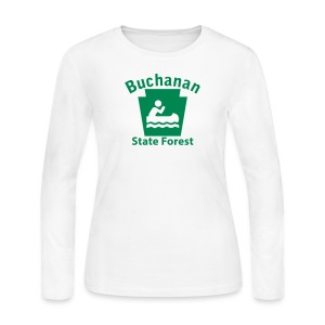Buchanan State Forest Keystone Boat - Women's Long Sleeve Jersey T-Shirt
