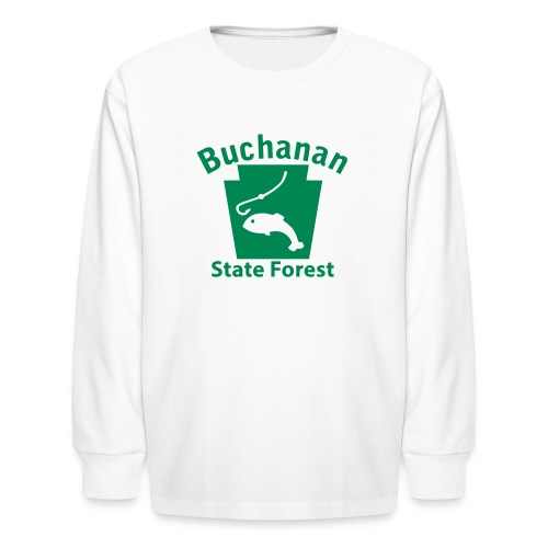 Buchanan State Forest Keystone Fish - Kids' Long Sleeve T-Shirt