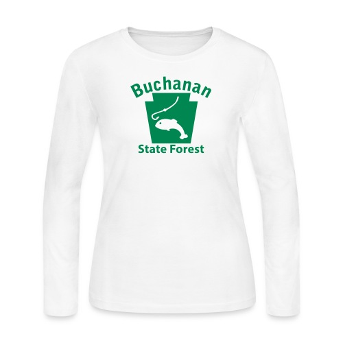 Buchanan State Forest Keystone Fish - Women's Long Sleeve Jersey T-Shirt