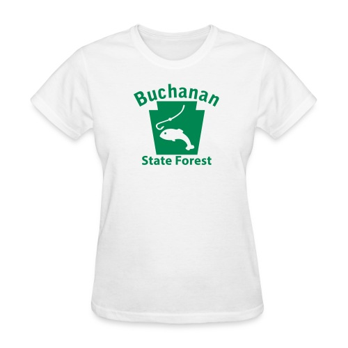 Buchanan State Forest Keystone Fish - Women's T-Shirt