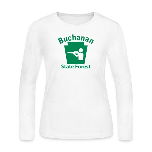 Buchanan State Forest Keystone Hunt - Women's Long Sleeve Jersey T-Shirt