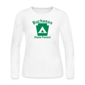 Buchanan State Forest Keystone Camp - Women's Long Sleeve Jersey T-Shirt