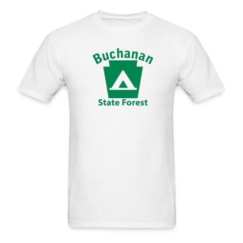 Buchanan State Forest Keystone Camp - Men's T-Shirt
