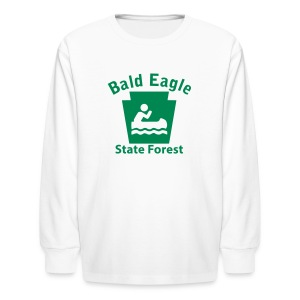 Bald Eagle State Forest Keystone Boat - Kids' Long Sleeve T-Shirt