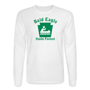 Bald Eagle State Forest Keystone Boat - Men's Long Sleeve T-Shirt