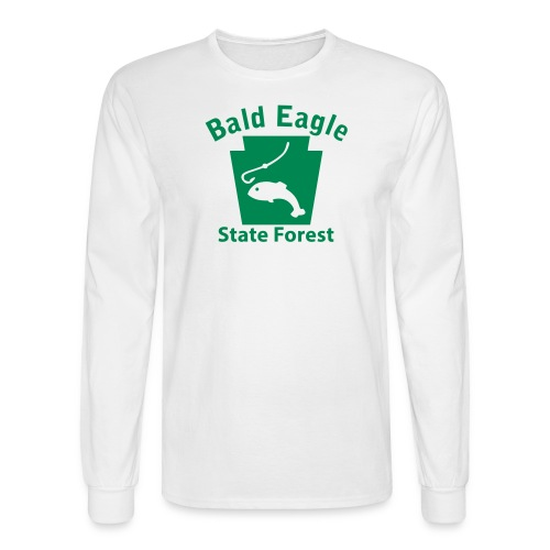 Bald Eagle State Forest Keystone Fish - Men's Long Sleeve T-Shirt