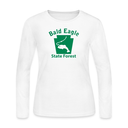 Bald Eagle State Forest Keystone Fish - Women's Long Sleeve Jersey T-Shirt