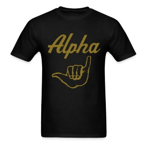 APA Black Alpha Handsign Shirt - Men's T-Shirt
