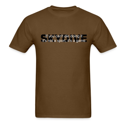 If you can't die...skydive - Men's T-Shirt