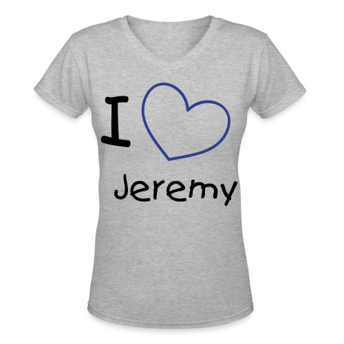 I Heart Jeremy V-Neck  - Women's V-Neck T-Shirt